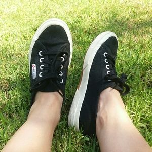 Superga black Cotu sneakers